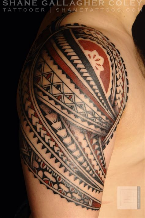 fijian tribal tattoos fijian contemporary sleeve can tell by use of brown