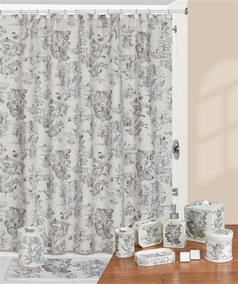 shower curtain and accessories sketchbook parisian floral shower curtain and bath
