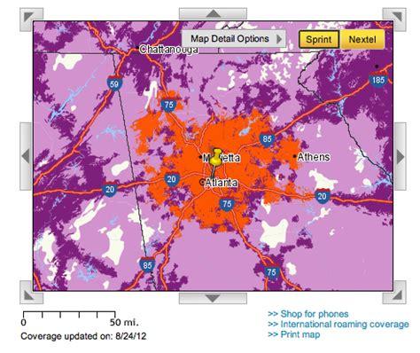 sprint 4g map at sprint 4g lte network performance on the motorola