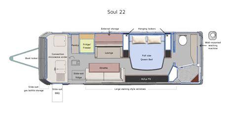 caravan floor plans soul caravans on the road