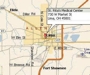 Lima Ohio Map by Facilities