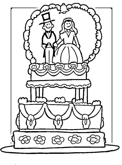 coloring page wedding cake wedding cake coloring pages az coloring pages