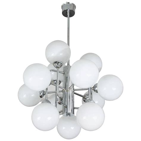 atomic chandelier large atomic chandelier in chrome and glass at 1stdibs