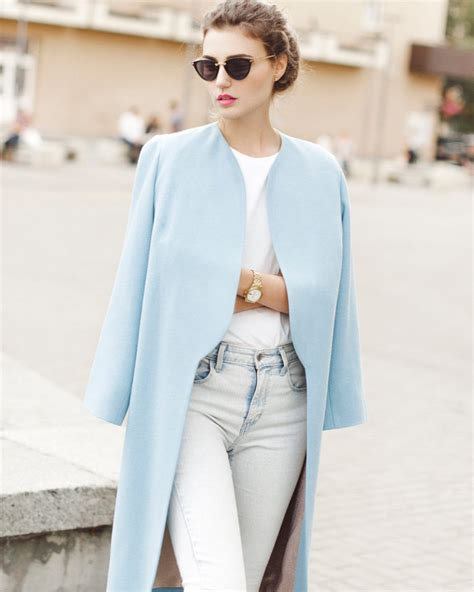 light blue coat womens light blue wool winter coat tradingbasis