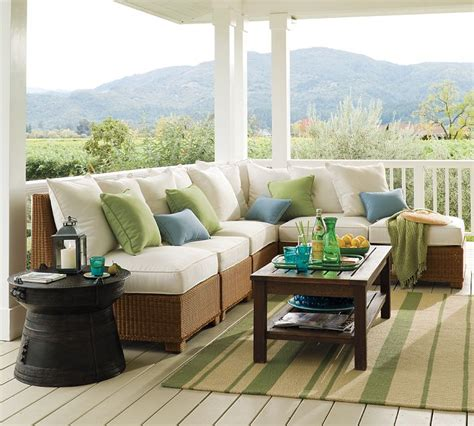 patio furniture decorating ideas designing outdoor living room w palmetto sectional by