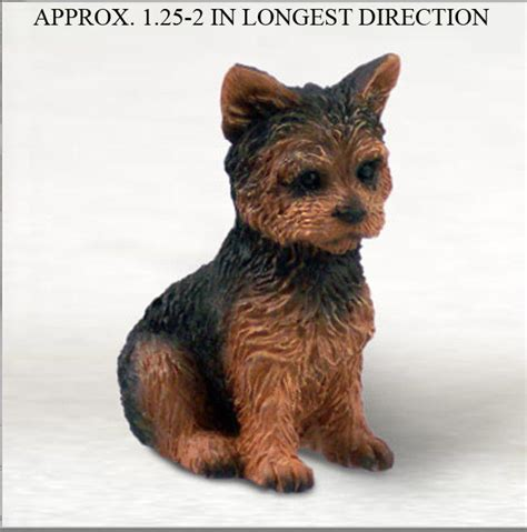 how do miniature yorkies live yorkie mini resin painted collectible figurine puppy cut