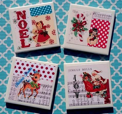 Handmade Vintage Gifts - handmade retro vintage kitsch coaster set gift