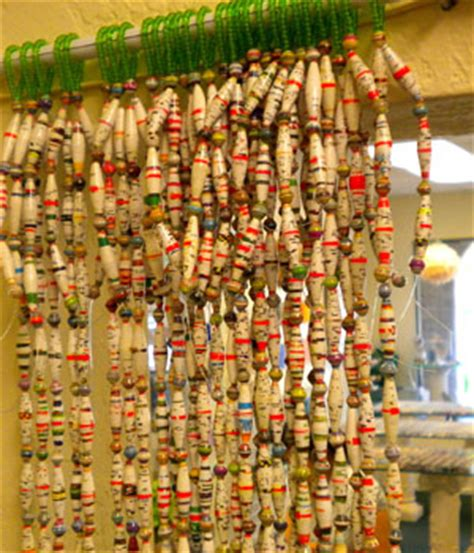 paper bead curtain paper bead curtains paper beads and jewelry