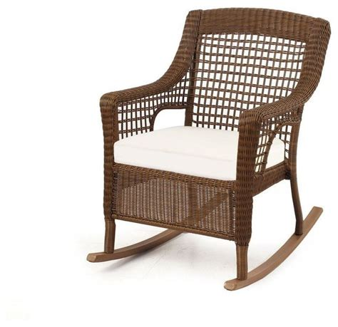 All Weather Wicker Rocking Chairs by Hton Bay Chairs Brown All Weather Wicker