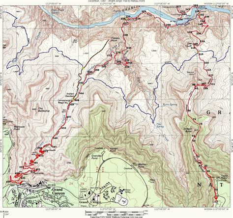 hiking maps grand hike