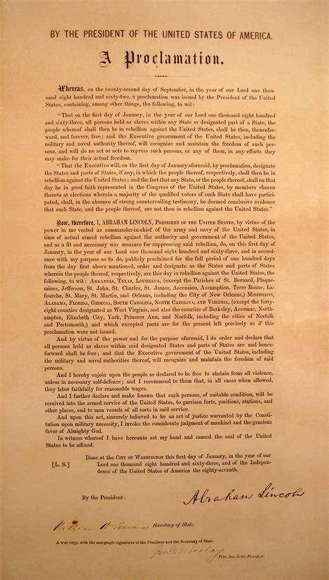 Executive order - Wikipedia Emancipation Proclamation Actual Document
