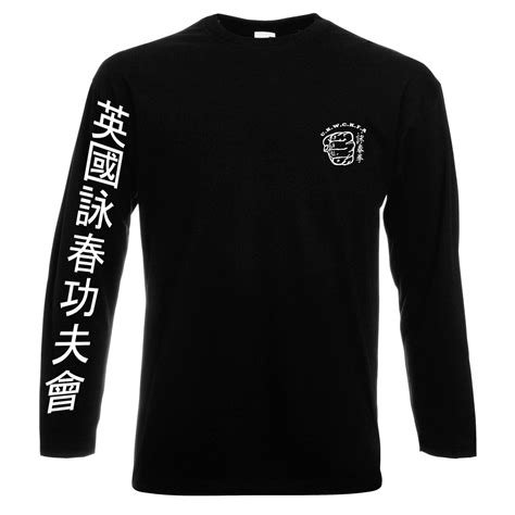 Hoodie Sweater Wing Chun Logo April Merch Sleeve T Shirt Uk Wing Chun Kung Fu Assoc Uk Wing
