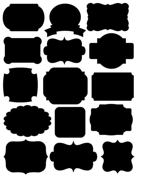 Doodlecraft Freebies Printables Labels And Chalkboard Fonts Label Templates