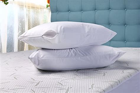 zippered pillow cover encasement waterproof bed bug proof zippered pillow cover encasement waterproof bed bug proof