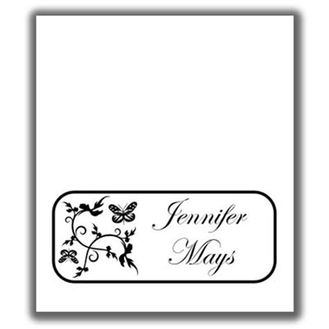 butterfly place card templates