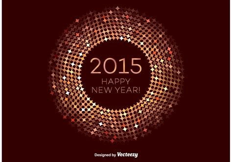 happy new year 2015 vector free bronze happy new year vector frame free vector