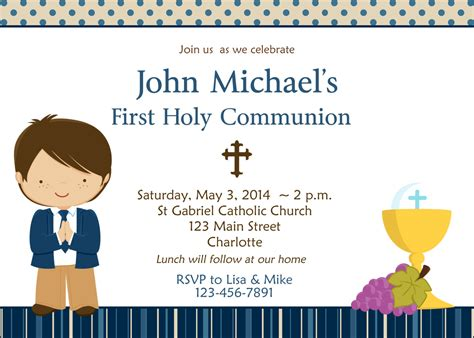 holy communion invitations templates communion images clip boy cliparts co