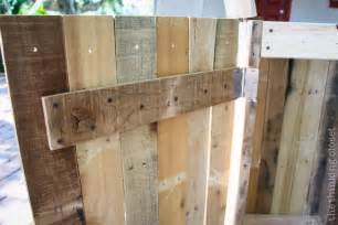 Refinish Cabinet How To Build A Rustic Pallet Recycle Bin Or Trash Can