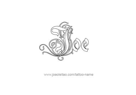 tattoo name joe joe name tattoo designs