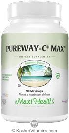 Vitamin Max C 500 maxi health kosher pureway c max vitamin c 500 mg with bioflavonoids 180 maxicaps