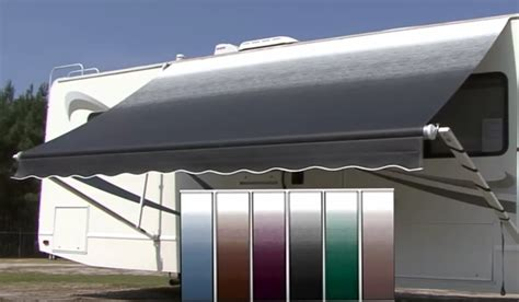 rv awning weathershield a e 8500 vinyl 18ft with vinyl monochromatic weathersheild