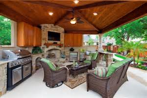 covered outdoor kitchen plans how to build a backyard cave st louis decks