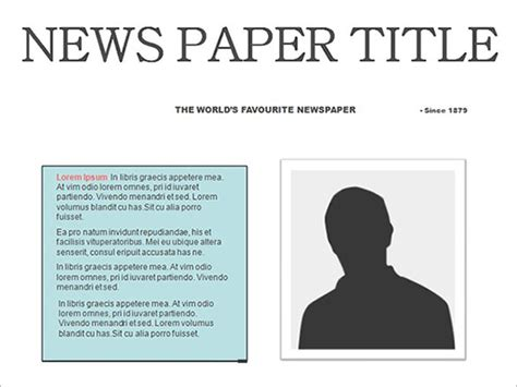 Newspaper Masthead Template
