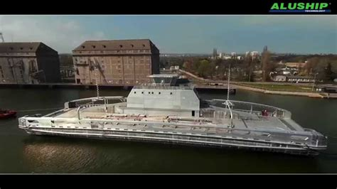 aluminium catamaran ferry launching of aluminium catamaran ferry hull youtube