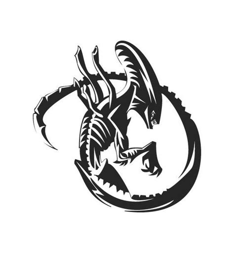 tribal xenomorph tattoo 35 best xenomorph symbol tattoos images on