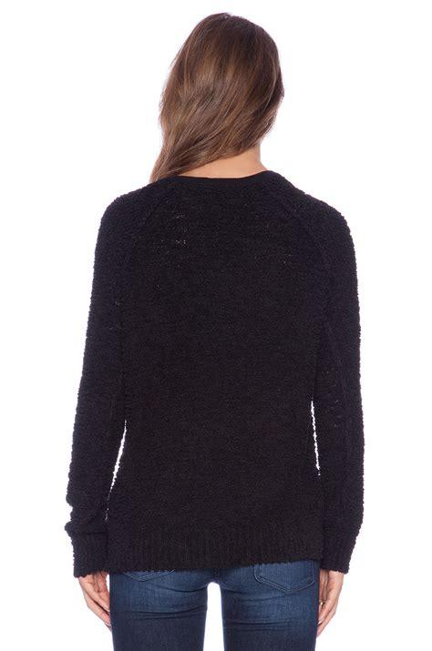 Teddy Sweater sanctuary teddy sweater in black lyst