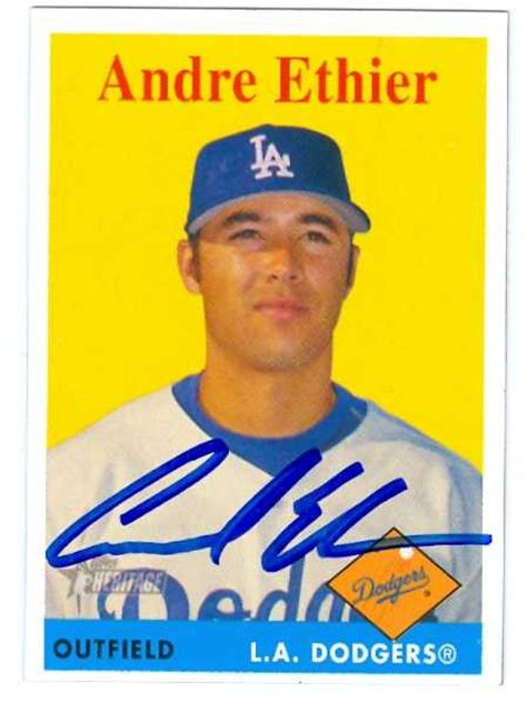 Dodgers Gift Card - andre ethier autographed baseball card los angeles dodgers