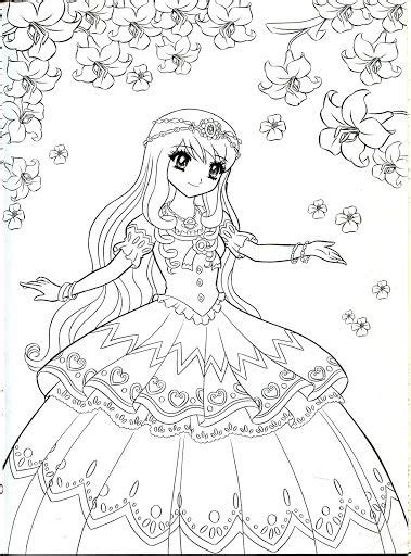 Anime Princess Coloring Pages Periodic Tables Coloring Princess Anime