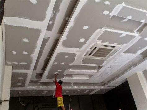 Ramset Surabaya jasa tukang pasang plafon gypsum dan partisi kalsiboard harga murah hasil mewah edisi 2018