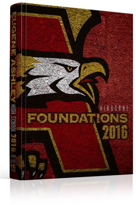 gold yearbook themes yearbook cover eugene ashley high school quot foundations