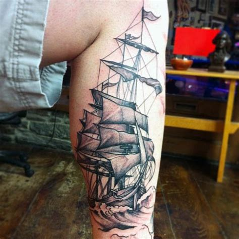 cool tattoo inspiration 60 sailboat tattoo designs for men nautical sophistication