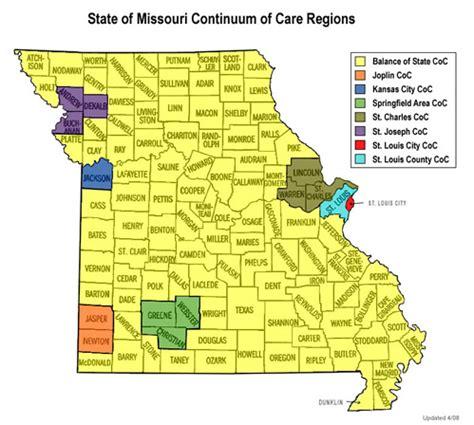 missouri map cares state continuum institute for community alliances