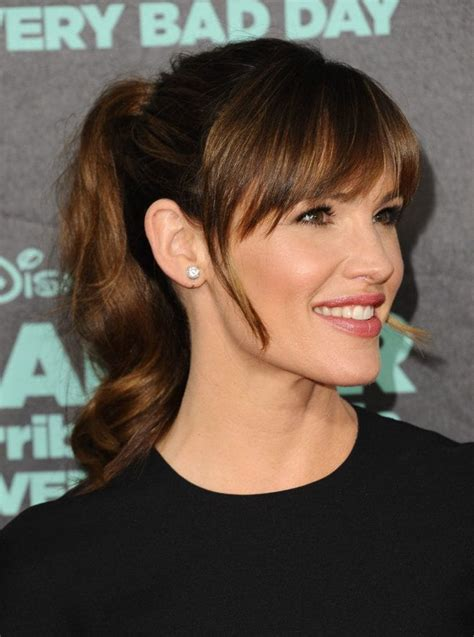 Ponytail Hairstyles With Bangs by Ponytail With Bangs 7 Fresh New Ways To Wear The Style