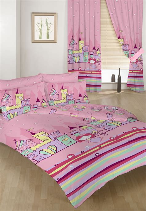 Princess Bed Cover Set Bed Duvet Cover Set Princess Castle 2 Pillowcases Bedding Childrens Ebay