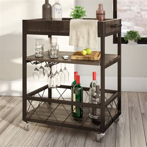 mercury row zona bar cart reviews wayfair