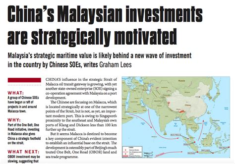 design and build contract in malaysia china s malaysian investments are strategically motivated