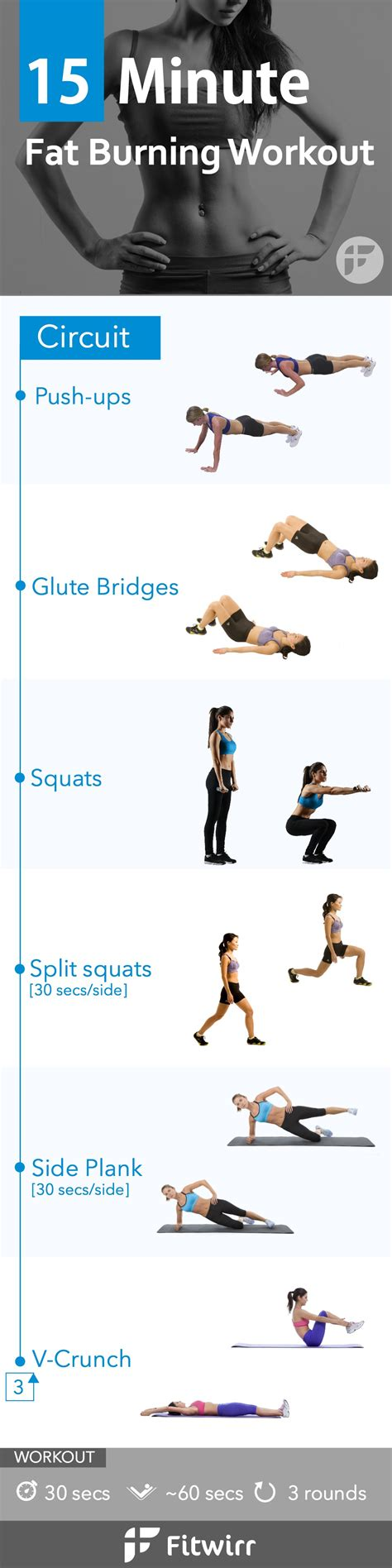 The Best Routine For Burning by 15 Minute Bodyweight Loss Workout For
