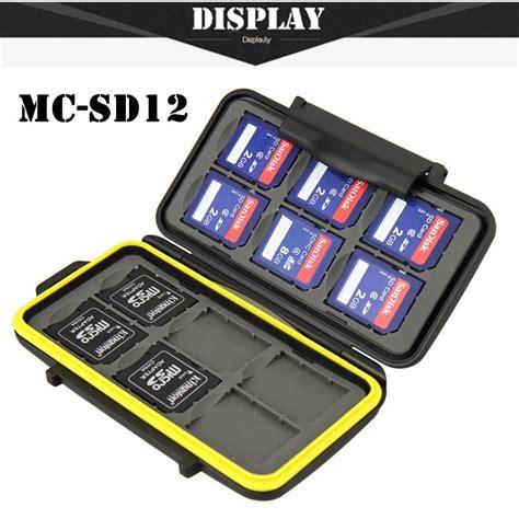 Card Holder 12 Slot Free Box free shipping memory card waterproof supper tough sd card holder box mc sd12 for 12pcs sd
