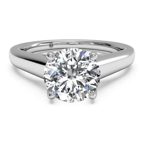 ritani solitaire white gold solid band