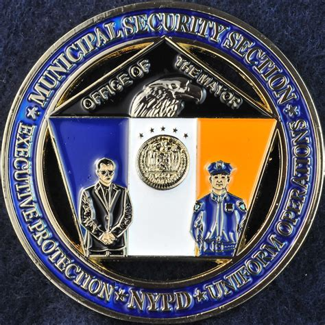 security section us nypd municipal security section challengecoins ca