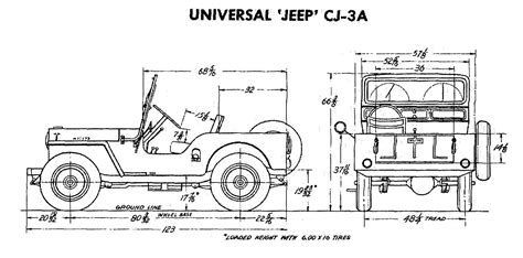 Length Of Jeep Builders Dimension Drawings
