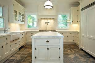 White Kitchen Flooring Ideas by Color Kitchen Cabinets And Slate Floor And Company