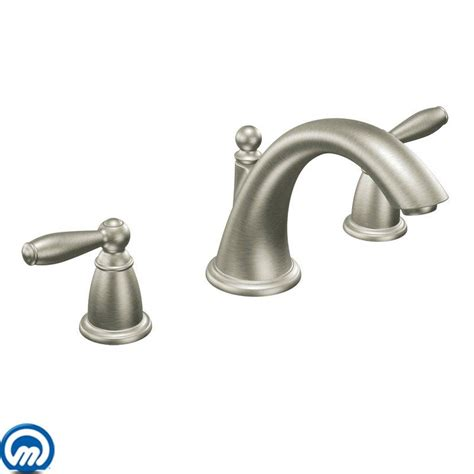 brushed nickel bathtub faucets faucet com t4943bn in brushed nickel by moen
