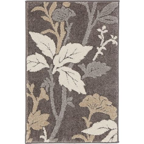 gray accent rug home decorators collection blooming flowers gray 2 ft x 3