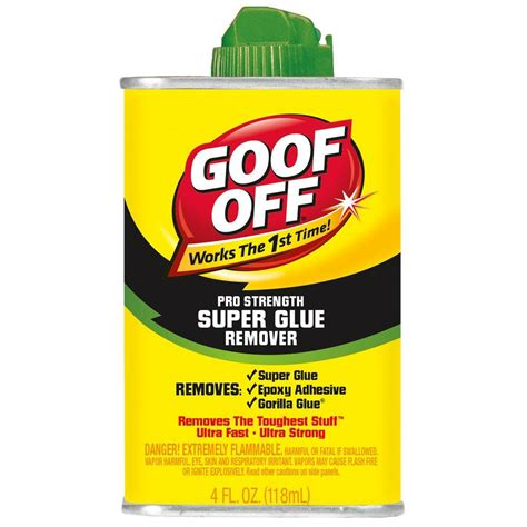 how to remove super glue from leather sofa goof off 4 oz super glue remover fg677 the home depot