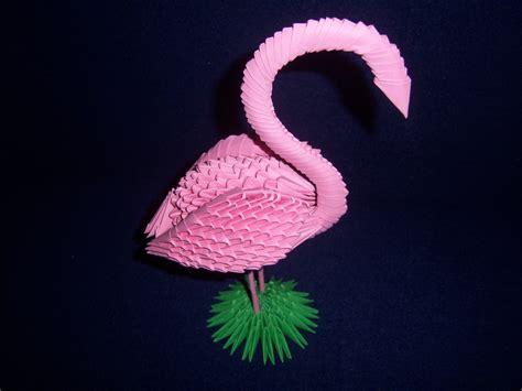 3d origami flamingo 3d origami flamingo gallery craft decoration ideas